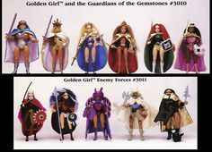 Golden Girl and the Guardians of the Gemstone - my sister and I had all of them! We would play She-Ra dolls against the Golden Girl dolls! Oh memories!!