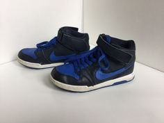 hot sale online 57562 3692a (eBay link) UNISEX BLACK AND BLUE LEATHER HIGH TOPS SHOES NIKE SB SIZE 2  USA15 UK  fashion  clothing  shoes  accessories  kidsclothingshoesaccs   boysshoes