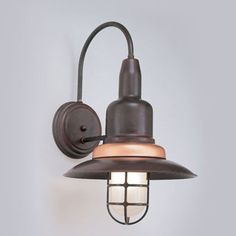 """Hi-Lite Manufacturing H-1351-B-74-FR Harbor Nautical Rosewood/Raw Copper Finish 12"""" Wide Lighting Wall Sconce - HLT-H-1351-B"""