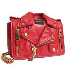moschino // jeremy scott // debut // leather jacket bag // pre-fall 2014 // genius