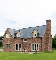 Border Oak - oak framed cottage with brick exterior. - House Plans, Home Plan Designs, Floor Plans and Blueprints Metal Building Homes, Building A House, Building Ideas, Border Oak, Oak Frame House, Self Build Houses, Cottage Design, House Goals, House Front