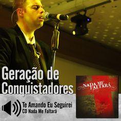 """Escute a música """"Te Amando Eu Seguirei"""" do CD Nada Me Faltará do Ministério Geração de Conquistadores - Roberto Costa: http://itbmusic.com.br/site/wp-content/uploads/2013/06/08-Te-Amando-Eu-Seguirei.mp3?utm_campaign=musicas-itb&utm_medium=post-27fev&utm_source=pinterest&utm_content=gc-te-amando-eu-seguirei-player-trecho"""