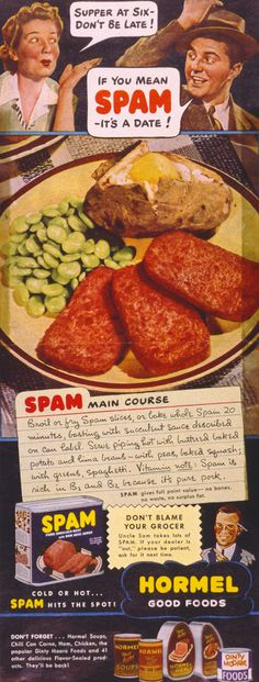 Fry up a classic this week. What's your favorite SPAM® Brand memory? | SPAM® Brand | Vintage Ad | SPAM® Brand History