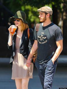 Andrew Garfield and Emma Stone Casual Fashion #fashion [ ToxicEnvyBoutique.com ]
