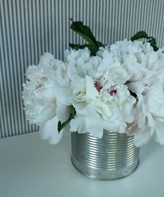 peonies in a can