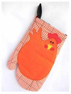 Guante - Manopla confeccionado en tela de algodón, Cosido a maquina, relleno con guata, acolchado y con aplicación hecha a mano.         Es lavable, se recomienda lavar a mano.