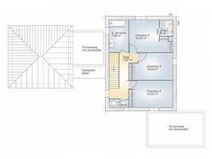 Plans de maison rdc du mod le la villa maison moderne tage de 170m2 av - Chambre parentale moderne ...