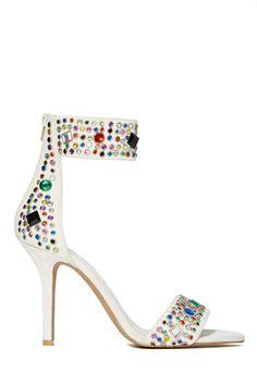 Jeffrey Campbell Inaba Heel - Jewel | Shop Heels at Nasty Gal