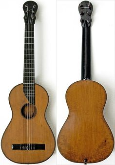 Romantic Double Top Guitar 1840s - German, Anonimous