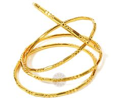Vogue Crafts & Designs Pvt. Ltd. manufactures Harmoniously Together Set of Golden Bangles at wholesale prices.