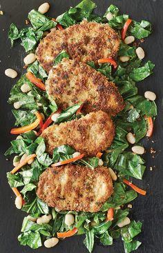 Panko-Crusted Chicken & Hot Greens - Hello HealthyHello Healthy