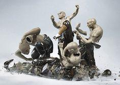 Martin Klimas' dropped porcelain statue photos.