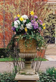 Cheery containers that herald spring the joys of outdoor container spring planter mightylinksfo