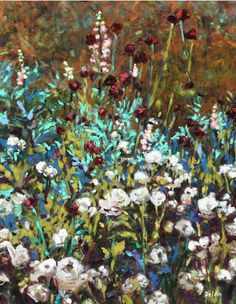 "Ivy Delon Fine Art-""White Phlox in Maine"""