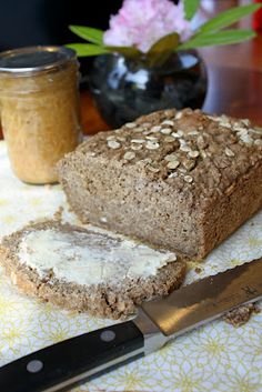Gluten-Free Sweet Brown Oatmeal Bread (quick bread) - uses buckwheat groats (ground), GF oats, flax meal, teff flour, etc. View the full recipe in the or. Gluten Free Baking, Vegan Baking, Vegan Gluten Free, Gluten Free Recipes, Bread Recipes, Whole Food Recipes, Dairy Free, Cooking Recipes, Nut Free