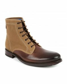 Leather and canvas boot - MURRT - Ted Baker