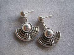 Vintage Sterling Silver Balinese Earrings With Menorah Design. $32.00, via Etsy.