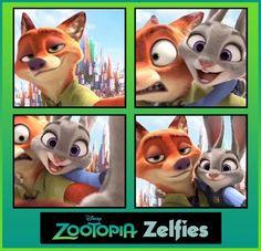 Zelfies #Zootopia #NickWilde #JudyHopps