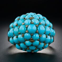 Victorian Turquoise Dome Ring - Lang Antiques