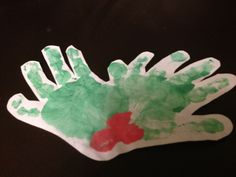 Holly Hands - Christmas Decorations/Cards
