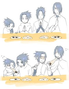 Sasuke through the years