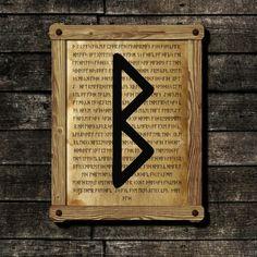 Berkano viking print Rune illustration Futhark от SacredMeaning