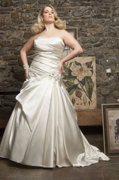 Wishesbridal Plus Size Bridal Wedding Dress