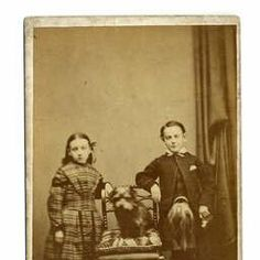 The Traill children with Greyfriars Bobby Patterson, WG, 1868, Photograph