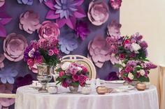 Сиреневая свадьба. Бумажные цветы, Свадебное оформление и флористика, Украшение зала на свадьбу