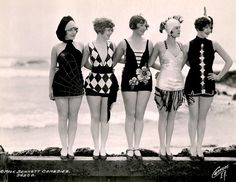Flappers out for a swim