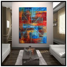 Decorate your home and office with the most unique and the best quality abstract painting made by Maitreyii Fine Art. More paintings available here: http://www.etsy.com/shop/largeartwork ================================================...