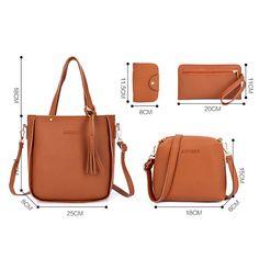 Challyhope 2019 Fashion Handbag Top Handle Satchel Shoulder Tote Purse Set Messenger Bag Wallet for Lady Women, Fashion Handbags, Tote Handbags, Purses And Handbags, Cheap Handbags, Guess Handbags, Fashion Bags, Leather Crossbody Bag, Leather Purses, Leather Handbags