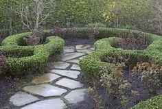 rose garden with border & stones