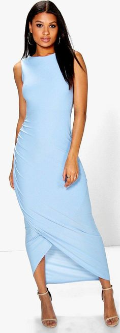 04263c78c904 Tia Open Back Wrap Detail Maxi Dress - Dresses - Street Style, Fashion  Looks And