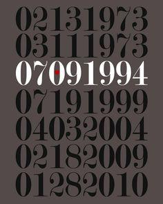 Free DIY printable - important dates