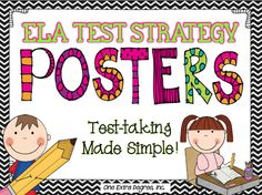 Awesome test taking strategy posters