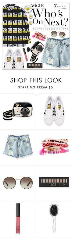 """Untitled #1710"" by anarita11 ❤ liked on Polyvore featuring Betsey Johnson, adidas Originals, Chicnova Fashion, Hipanema, Prada, Forever 21, NARS Cosmetics and New Look"