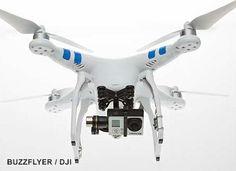 Le Drone DJI Phantom 2 peut embarquer en vol une caméra GoPro Hero Drone Rc, Drone Quadcopter, Composition D'image, Parrot Drone, Micro Drone, Dji Phantom 2, Remote Control Drone, Drone For Sale, Gopro Camera