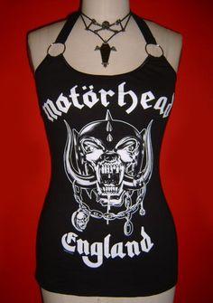 MOTORHEAD diy halter top  tank top hard rock by SpookyOwlBootique