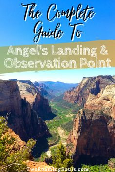 Angel's Landing and Observation Point are two of the most challenging, yet most spectacular hikes at Zion National Park. Both Angel's Landing and Observation Point offer stunning views high amongst the ridge down the valley floor of Zion. But both hikes are unique in their own way, that is why I am going to help you decide between Angel's Landing vs Observation Point. #AngelsLanding #ObservationPoint #ZionNationalPark #WhichHikeIsBetter Usa Travel, Travel Tips, American National Parks, Zion National Park, Stunning View, Amazing Destinations, Historical Sites, Hiking Trails, Landing