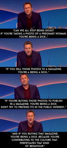 "And when a magazine published photos of her in a bikini on holiday that were taken without her knowledge. | 13 Adam Hills Rants By On ""The Last Leg"" That Nailed It"