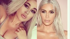 Kim Kardashian Blonde Hair Make Up Recreation |Make up Look Blond| Marina Si - YouTube