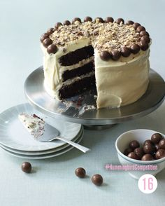 Hummingbird Bakery chocolate malt cake - This chocolate cake recipe is exactly that, and although it is decadent its the perfect cake to serve to your friends with a nice cup of tea. Chocolate Malt Cake, Chocolate Chip Cookie Dough, Chocolate Recipes, White Chocolate, Baking Recipes, Cake Recipes, Dessert Recipes, Easter Recipes, Baking Ideas