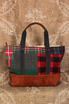 Patchwork Plaid Tote