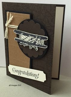 masculine card handmade Stampin Up - Sky's the Limit