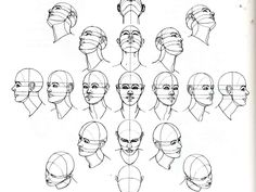 Right Brain Draw: Sphere Form of the Human Head at various angles