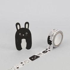 Ricemonster monochrome masking mini paper tape from Noodoll