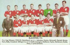 Blackpool team group in 1952-53.