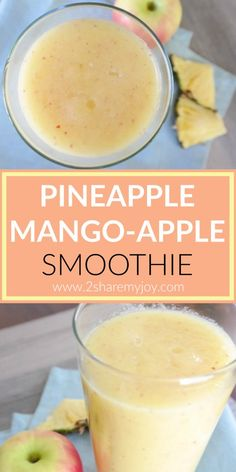 Healthy pineapple mango apple smoothie with zero calories and 3 servings of fruit. This makes a great healthy snack to boost immunity or for weight loss.