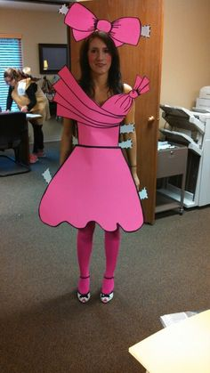 Paper doll costume.. You're doing it right!                                                                                                                                                                                 More